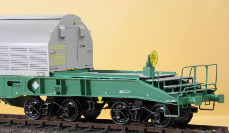 Wagon cogema arbel pour transport de dechets nucléaires