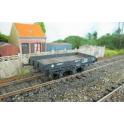 K254-3 Lot de 3x wagons plat à 3 essieux Nzo PLM en kit