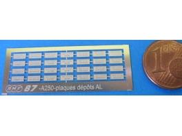 A250 Plaques de depots AL