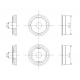 """Pack économique de 20 roues pleines """"monobloc""""de 11,2mm seules"""