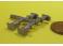 4 tampons unifiés U6 pour locomotives en maillechort