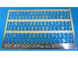A240 chiffres alu SNCF