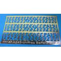 A243-chiffres et lettres Beffara photogravés