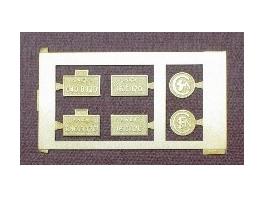 1 jeu de plaques pour 040D120 Trix