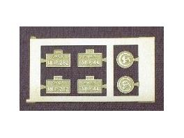 1 jeu de plaques pour 141P13 ou 141P282 Jouef