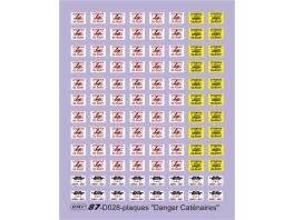 D028 Plaques Danger Caténaire