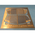 2 calandres photogravées pour autorail ABJ3 Electrotren