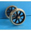 4 roues à 8 rayons ouverts de 12mm seules