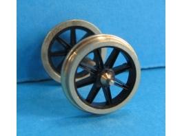 Pack économique de 20 roues à 8 rayons ouverts de 12mm seules