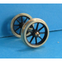 4 roues à 9 rayons de 12mm seules