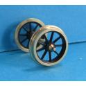 4 roues à 9 rayons de 11,5mm seules