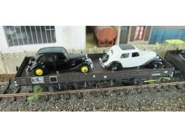K269 wagon plat à ridelles en bois de 10m Nord/SNCF