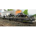K270 wagon plat à ridelles en fer de 10m Nord/SNCF