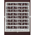 8 paires de marquages ETAT