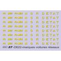 Inscriptions marques réseaux PO MIDI NORD ETAT