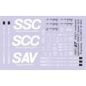 D621 déco voitures spéciales SCC, SSC et SAV