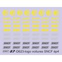 D623 monogrammes SNCF ronds et allongés pour voitures