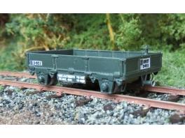 K283 2 wagonnets de draisine à ridelles en tole