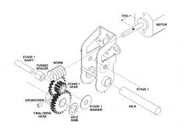 Réducteur 40/1 entraxe 12mm