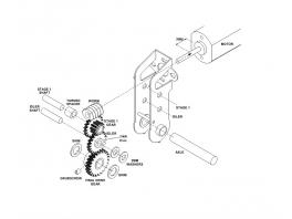 Réducteur 40/1 entraxe 18mm