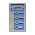 1 plaque DANGER ajourée pour tender MT