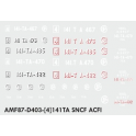 Decalcs pour 141TA Jouef/Kitway version ACFI
