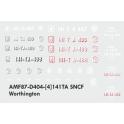 Decalcs pour 141TA Jouef/Kitway version Worthington