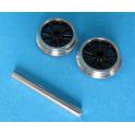 1 essieu de bissel à roues 9 rayons de 10,5mm