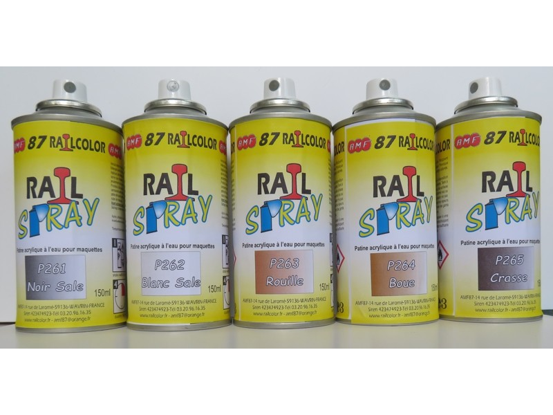 Lot de 5 bombes de patine acrylique amf87 for Patine peinture acrylique