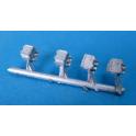 A153E 4 boites d'essieux OCEM métal blanc