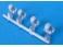 A159E 4 boites d'essieux SKF métal blanc