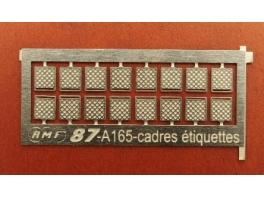 16 cadres porte étiquettes pour wagons