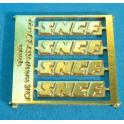 A335 4x plaques SNCF autorails