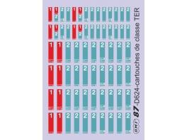 D624 cartouches de classe type TER