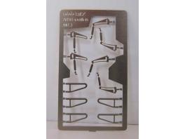 Suspensions de soufflets d'intercirculation (pliés et dépliés)