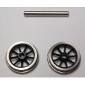 1 essieu porteur à roues à 9 rayons de 12mm