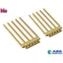 Set de 10 poteaux béton pour pancartes Ara