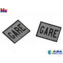 2 plaques GARE Ara