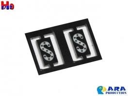 2 plaques S réfléctorisées Ara