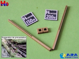 2 plaques Heurtoir 150 et 200m Ara