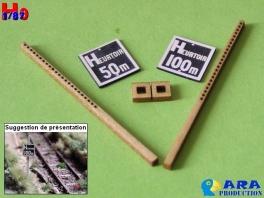 2 plaques Heurtoir 50 et 100m Ara