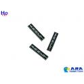 3 plaques ARRET verticales Ara