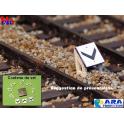3 plaques chevron pour entrevoie réduite Ara