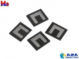4 plaques GABARIT Ara