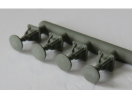 A351 4 tampons de locomotive Nord type 3