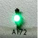 4 petites lanternes d'angle pour fin de convoi vert
