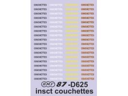 """Decalcs """"COUCHETTES"""""""