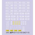 Planche de deco pour CC1100 SNCF VO