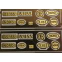 A364 plaques constructeur Nord