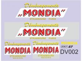 Déco Mondia pour camion démenagement